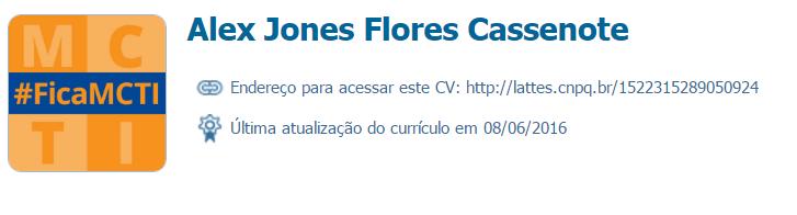 Alex Jones Flores Cassenote