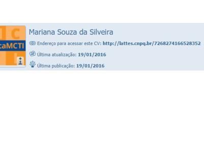 cvlattes Mariana Silveira